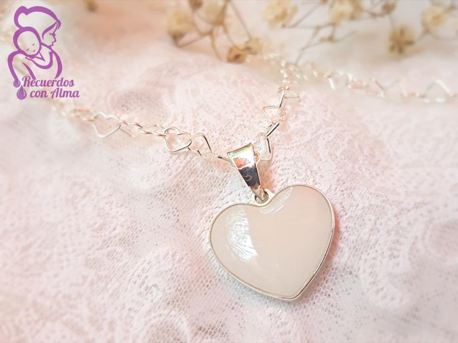Colgante Corazón Nuria corazón para joyas de leche materna y joyas maternales