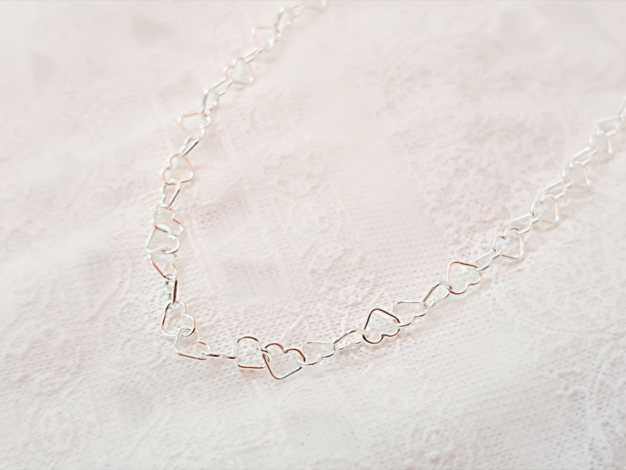 cadena corazón para joyas de leche materna y joyas maternales